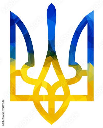 Vector Trident Ukraine Trident Emblem Of Ukraine Stock Image And