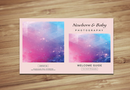 Newborn and Infant Photographer Brochure Layout