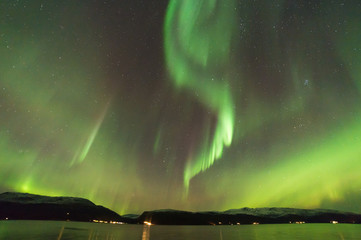 The polar lights in Norway