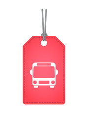 Isolated label with  a bus icon