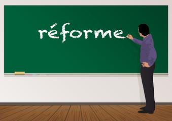 Réforme - école - éducation - Professeur