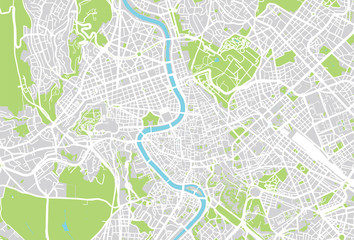 Rome vector city map