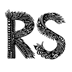 Decorative Hand-Drawn Letters - Ethnic Alphabet - R And S