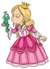Vektor Illustration einer niedlichen Prinzessin