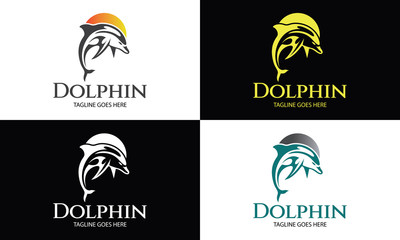 Dolphin logo design template ,Vector illustration