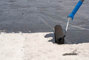 Roller brush waterproofing