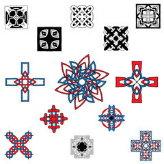 pattern with a cross in the Celtic style