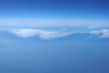 View of the coast from the airplane