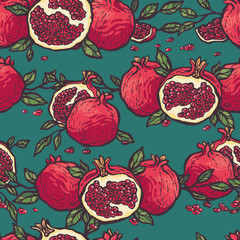 Decorative pomegranates pattern