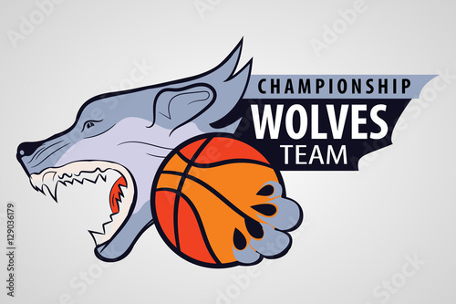 Wolf Head With The Ball In His Paws Sporting The Emblem The