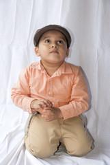 Boy in cap guatemalan latin expression