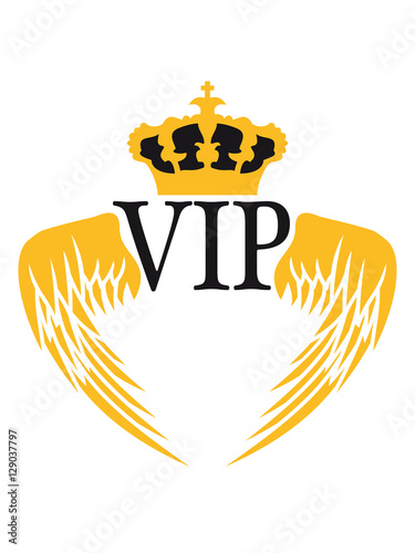 Angel Wings Crown King King Logo Symbol Coat Of Arms Vip Cool Design