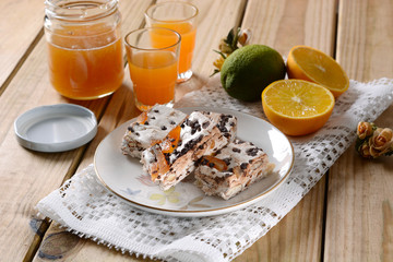 nougat with almonds and orange