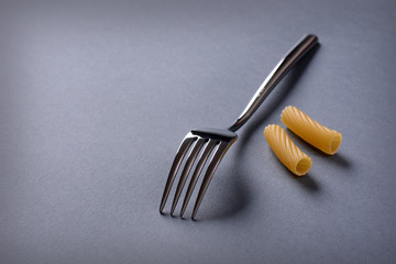 cutlery and Italian pasta