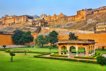 Amber Fort near Jaipur in Rajasthan, India