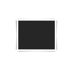 Retro photo frame with shadow. Vector illustration