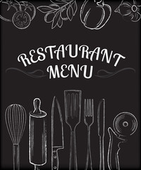 restaurant menu front page