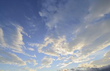 beautiful sunrise sky with cloud