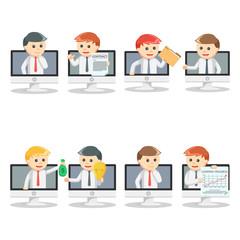 online businessman pc set