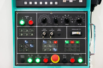 CNC machine control panel texture with lots of buttons in factor