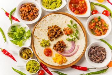 タコス メキシコ料理  Tacos set Mexican food