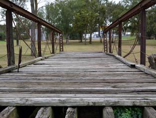 Bridge in the grass/Old Wood and Steel bridge