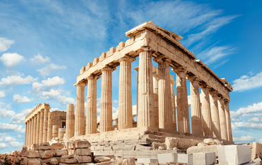 Fotobehang Rudnes Parthenon on the Acropolis in Athens, Greece