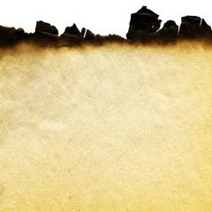 Aged paper. Burnt vintage paper. Background paper. Papyrus.