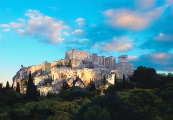 Fototapete - The Acropolis of Athens,Greece, just after the sunset