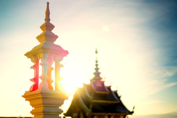 Temple in the evening before sunset.