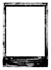 Analog film border. Film sprocket. Liquid polaroid emulsion border.