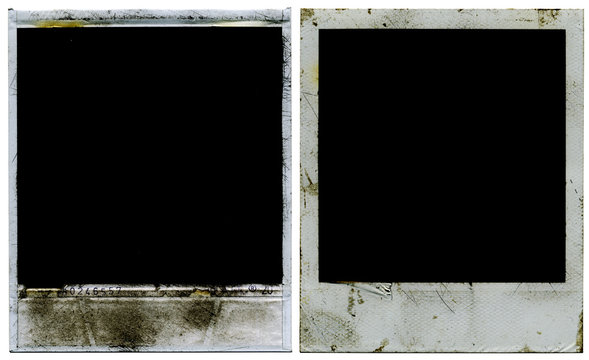 Polaroid film border. Photo frame. Picture Frame.  Front and back.