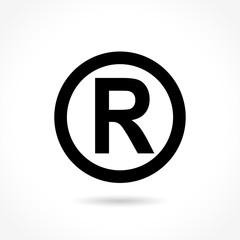 trademark icon on white background