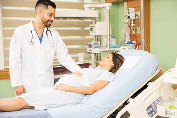 Obgyn doctor doing rounds in a hospital