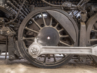 Drive Wheel & Coupling Rod on 1926 Steam Locomotive