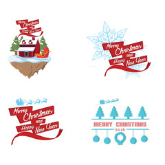 cristmas cartoon set illustration design