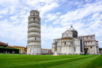 Leaning Tower of Pisa in Tuscany,Italy. a Unesco World Heritage