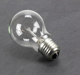 light bulb on gray background