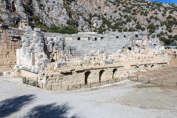 Ancient amphitheatre in Myra, Turkey