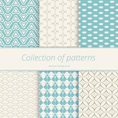 Set gentle seamless patterns. Monochrome pattern pastel shades. Simple graphic texture.  Vector illustration.
