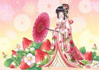 japanese anime manga style illustration