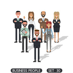 Business team work. Business people set 30, working people on white background. Flat design people characters.