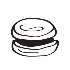 Macaron cake in the outline