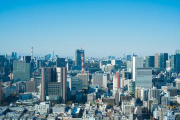 Tokyo cityscape. Tsukiji, Shiodome, Ginza area in Tokyo, Japan.