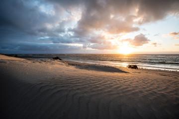 Geraldton, Western Australia. Sunset on the beach