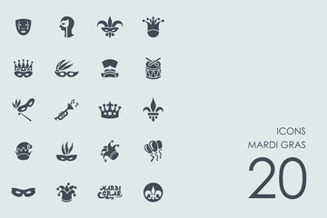 Set of Mardi Gras icons