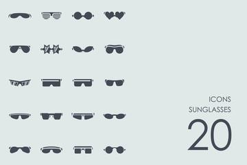 Set of sunglasses icons