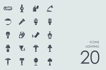 Set of lighting icons