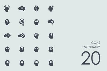 Set of psychiatry icons
