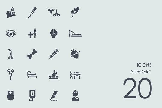 Set of surgery icons